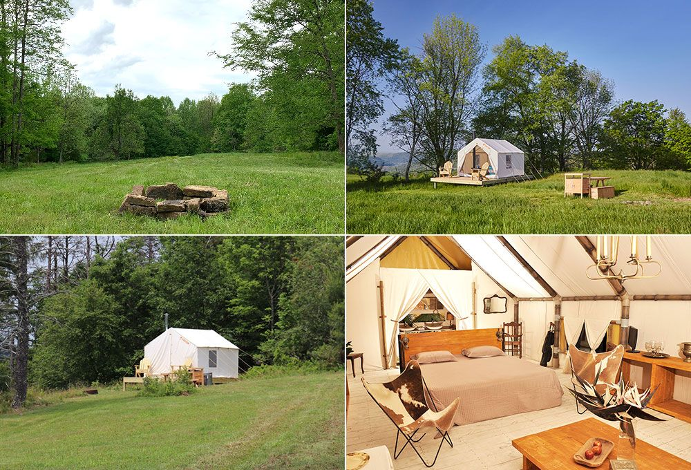 variety of camping options with tentrr