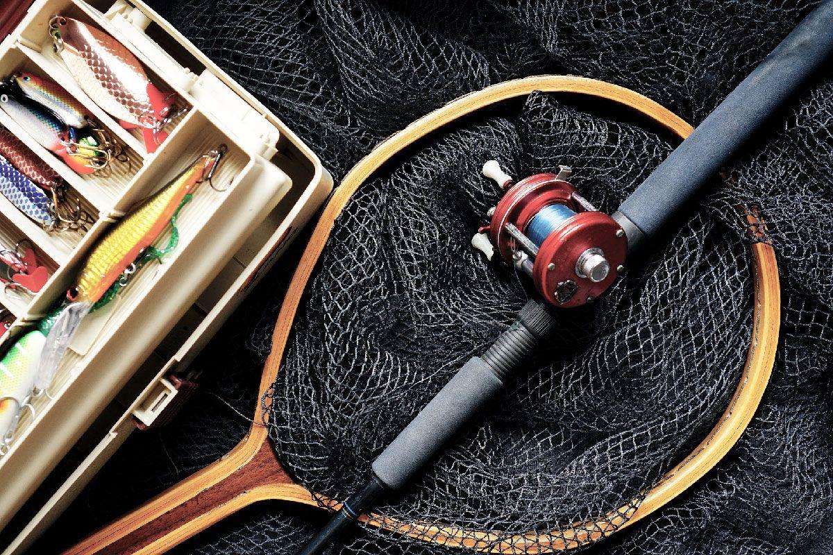 fishing tackle and lure box