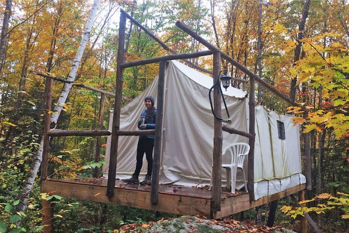 Treehouse Tent Cabin Camping, New Hampshire - Tentrr