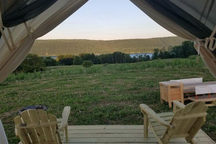 Glamping near the Adirondacks