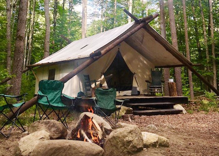Glamping options Adirondacks