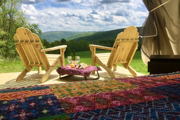 Glamping in the Adirondacks