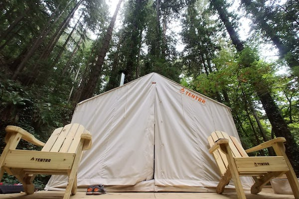 Camping and glamping in California with Tentrr