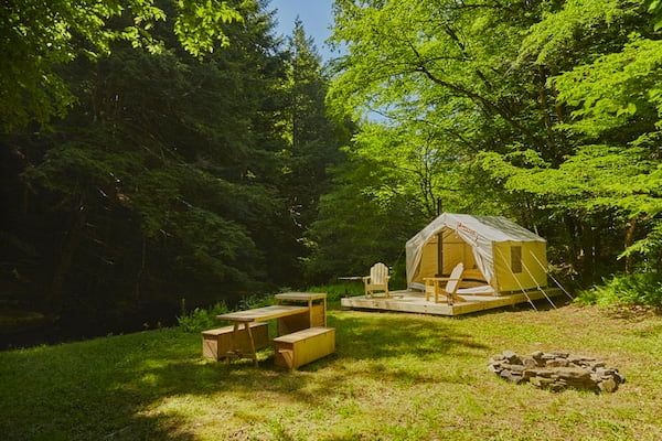 Glamping site in New York - Sands Creek Camp
