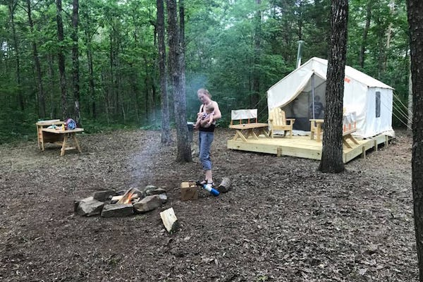Glamping in Tennessee at Cove Creek Forest