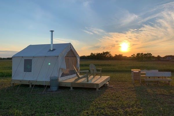 Glamping in Wisconsin at The Scorpio