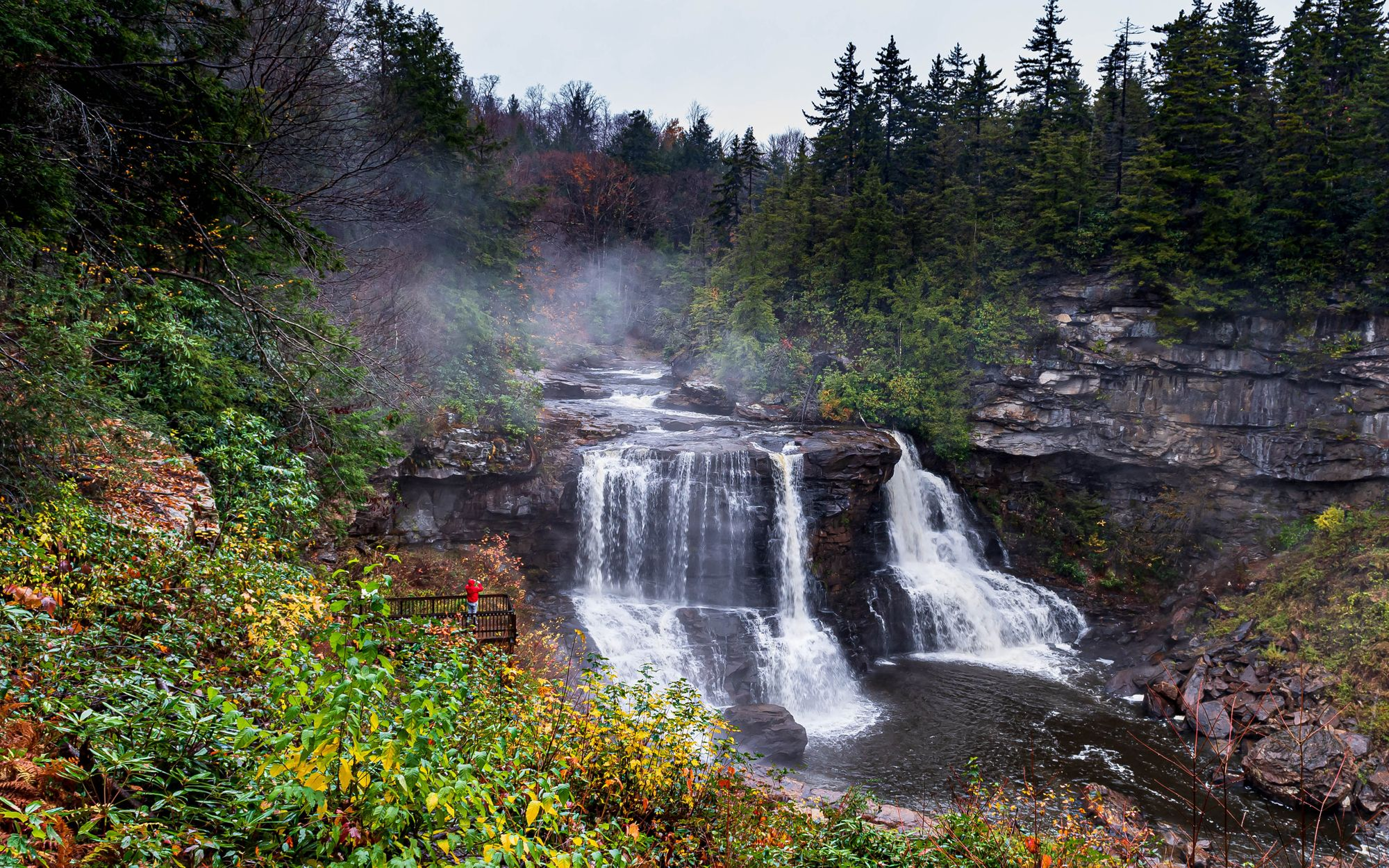 Blackwater Falls during the summertime.